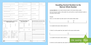 rounding decimals activity sheet rounding decimals