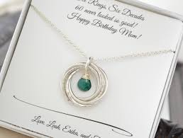 Good Gifts For Wife 60th Birthday Gift For Mom And Grandma Necklace May Birthstone