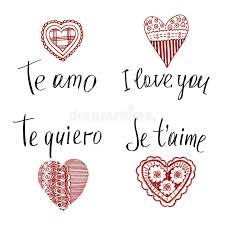 imagenes de amor en ingles español declaración del amor adentro en inglés francés español ilustración