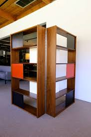 room divider or bookcase by evans clark for glenn of california at