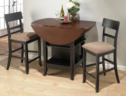 dining 5 piece black dining room set counter height and round