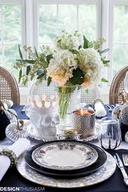 halloween background elegant black and white table top ideas for an elegant halloween dinner