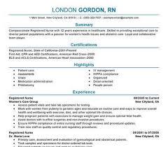 nursing resume template templates for rns free rn new grad