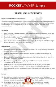 Terms Conditions And Conditions For The Supply Of Services To Consumers B2c