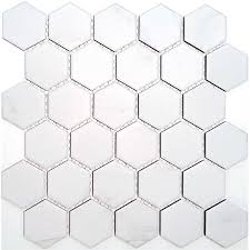 find coulson 312 x 326 white hexagon mosaic tile sheet at bunnings