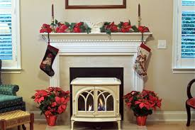 decorations simple christmas fireplace decoration feature black