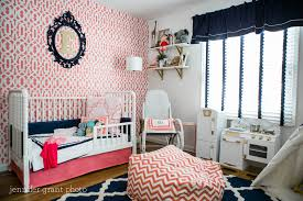 Gold And Coral Bedroom Coral Navy And Gold Toddler U0027s Room Project Nursery