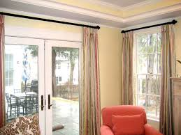 door treatment panels u0026 curtains on french doors home decorating