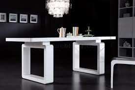 white finish modern dining table w elegant legs