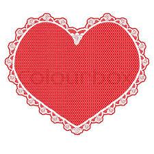 heart doily heart shape lace doily white on background stock photo