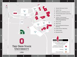 State Map Of Ohio by Campus Maps U0026 Directions The Ohio State University At Lima