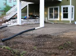 Drainage Patio Drainage Issues Are Long Gone With This Patio And Retaining Wall