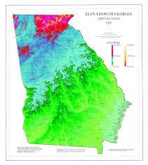 Atlanta Area Map File Map Of Georgia Elevations Png Wikimedia Commons