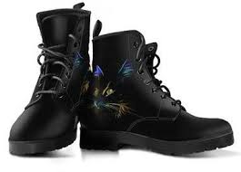 womens leather boots 3d lighting cat s leather boots grr cats