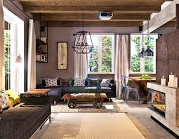 apartments lovely industrial decor living room design ideas