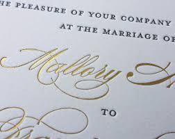 gold foil wedding invitations gold foil invitation etsy