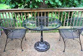 Metal Patio Chair Spray Painting A Metal Outdoor Table U0026 Chairs With Oil Rubbed