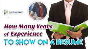 Resume How Many Years How Many Years Of Experience To Show On A Resume
