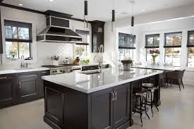black cabinets look stunning in this manhasset kitchen kitchen