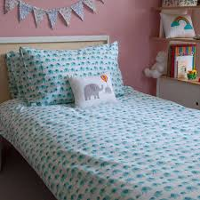 Original Duvet Covers Turquoise Elephant Single Duvet Cover By Lulu And Nat