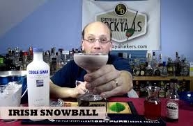 martini snowball irish snowball cocktail how to youtube