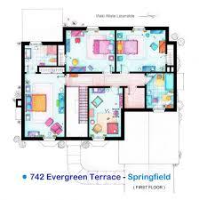 amusing floor plan of the simpsons house gallery best image