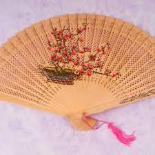 sandalwood fan sandalwood fan plum blossom accessories women