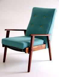 Wooden Frame Armchair 1960s Armchair With Wooden Frame And Box Cushions Re Upholstered