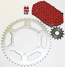 amazon com yamaha yz450f 450 f red chain and sprocket 14 50 116l