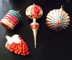 antique vintage german mercury christmas ornaments 4 large