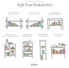 how to arrange your bookshelf bookcase ideas purewow