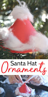 santa hat ornament simple christmas crafts simple christmas and