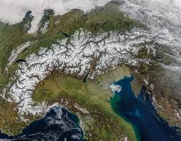 Snow Depth Map Spring Snow Cover In The Alps Image Of The Day