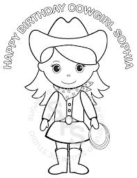 cowgirl coloring pages funycoloring