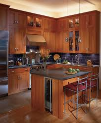 indianapolis cherry shaker cabinets kitchen transitional with
