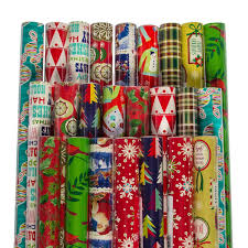 bulk christmas wrapping paper pack of 24 gift wrapping paper sheets assorted