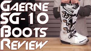 gaerne motocross boots gaerne sg 10 boot review from sportbiketrackgear com youtube