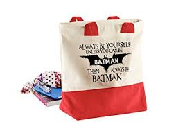 sprüche taschen always be batman damen lustige sprüche westcove leinwand taschen