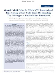 www asrem org posta interna genetic yield gains in cimmyt s international elite wheat