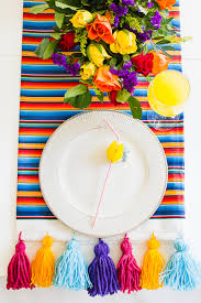 easy diy mexican inspired tassel table runner diy tassel and