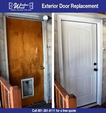 Exterior Doors Utah Fiberglass Exterior Door Replacement Window World Utah