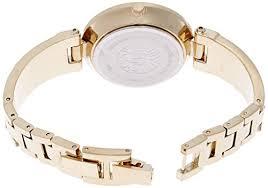 anne klein bracelet gold images Anne klein women 39 s ak 1414bkgb diamond accented bangle watch jpg