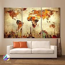 Wall Art World Map by Online Get Cheap World Map Wall Art Framed Aliexpress Com