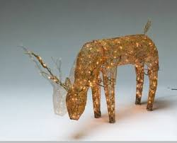 animated lighted deer silver or gold outdoor