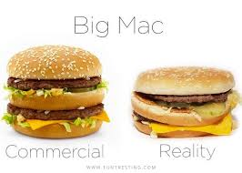 Big Mac Meme - big mac commercial vs reality funtresting facts pinterest