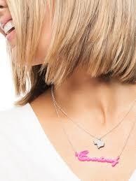 Acrylic Name Necklace Acrylic Nameplate Necklace Jewelry Flatheadlake3on3