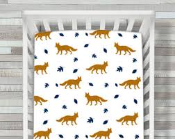 fox crib bedding boy nursery beddingcrib set turquoise and