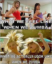 Funny Zumba Memes - truly what i feel and look like doing zumba exercise a