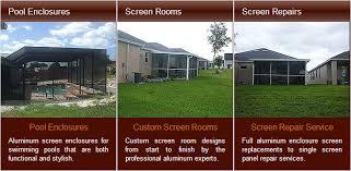 Aluminum Patio Enclosure Materials Pool Enclosures Screen Room Installation Repair Tampa