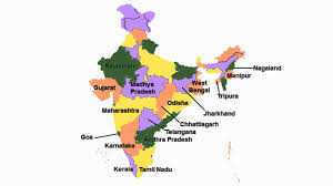 Gujarat Map Blank by India States Song U2013 29 States And 7 Union Territories Of India
